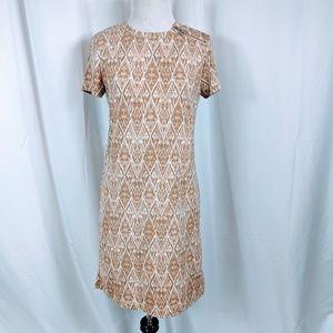 MICHAEL Michael Kors Tan Tribal Print Dress